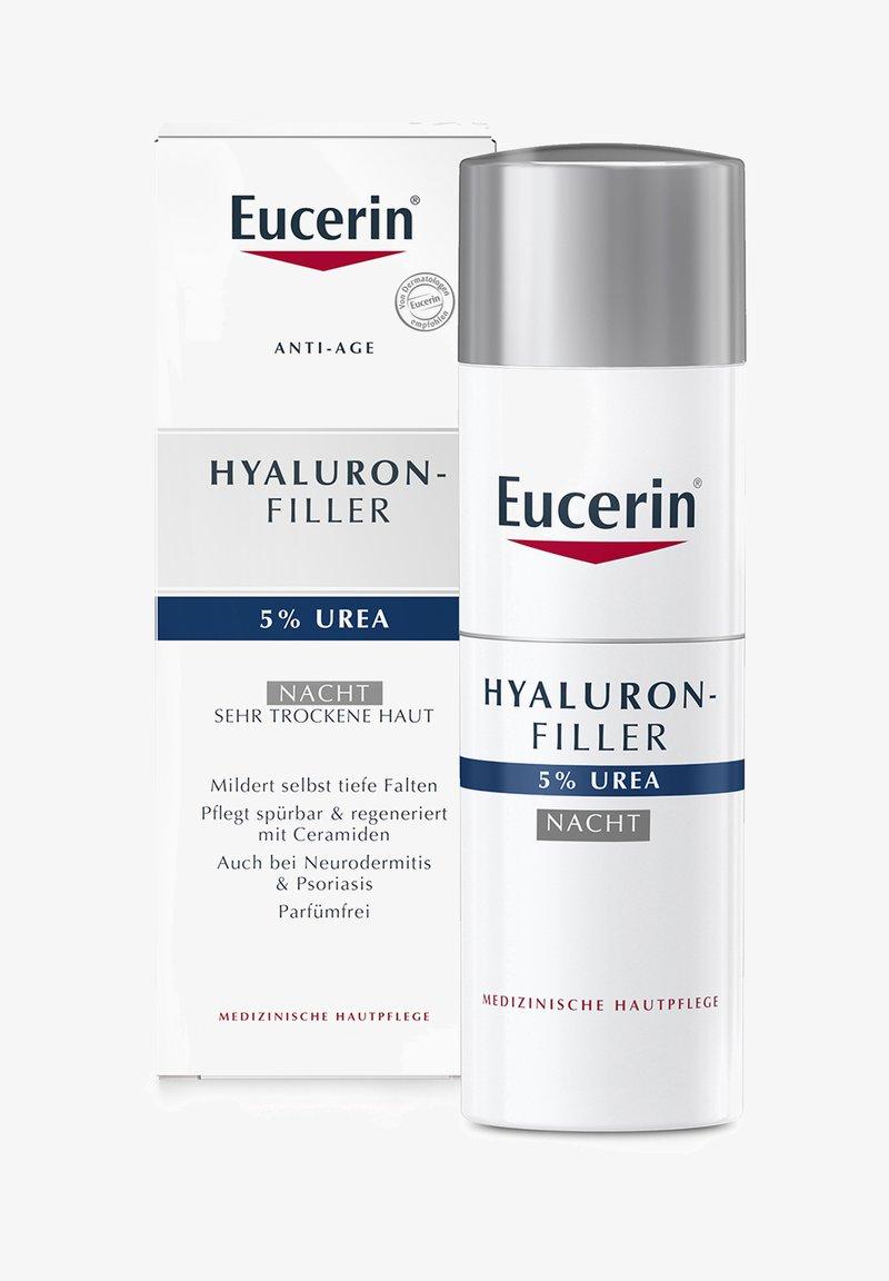 Eucerin - ANTI AGING NACHTPFLEGE HYALURON-FILLER UREA, MILDERT FALTEN - Night care - -