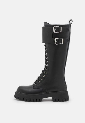 VEGAN HURRICANES - Stivali con i lacci - black