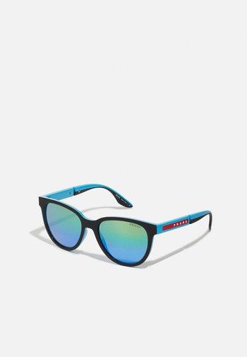 Sunglasses - black/light blue