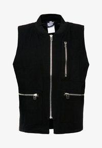 QUILTED GILET - Chaleco - black