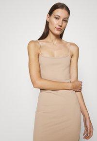 Abercrombie & Fitch - MIDI DRESS - Day dress - neutral brown - 3