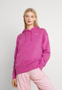 Nike Sportswear - HOODIE TREND - Sweatshirt - active fuchsia/white - 2