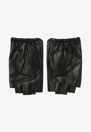 Fingerless gloves - black/gold