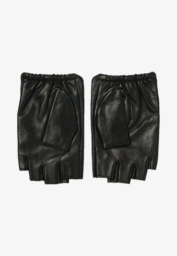 Fingerless gloves - black/gold