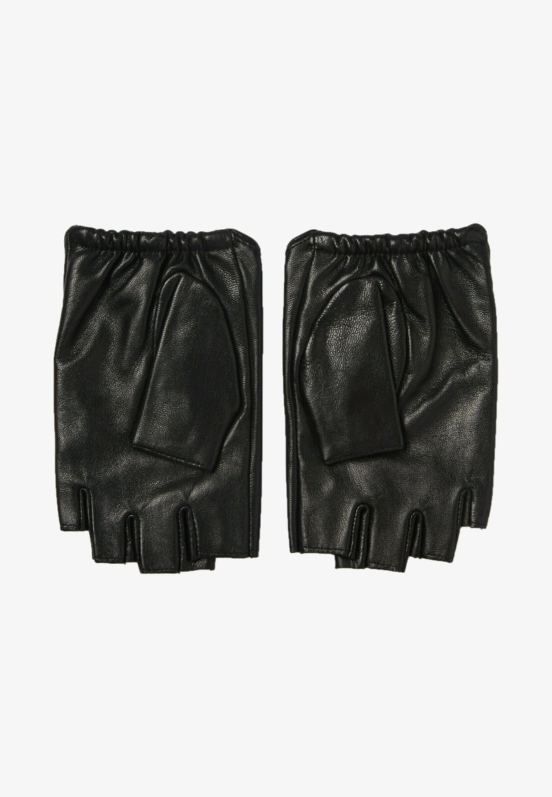 KARL LAGERFELD - Fingerless gloves - black/gold