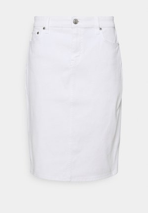 BULL SKIRT - Denim skirt - white wash