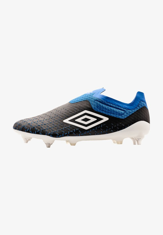 Moulded stud football boots - schwarz weissblau