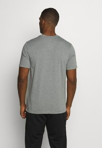 Nike Performance - DRY TEE YOGA - Basic T-shirt - iron grey/smoke grey - 2