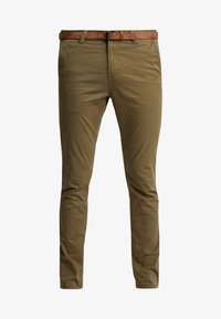 WITH BELT - Chinos - dry greyish olive