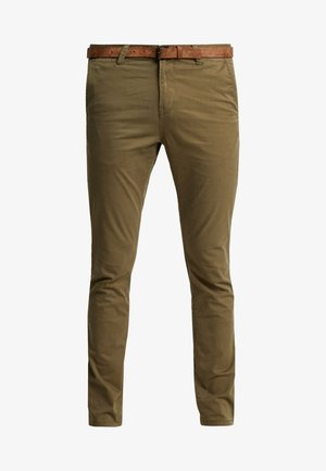 WITH BELT - Chino - dry greyish olive