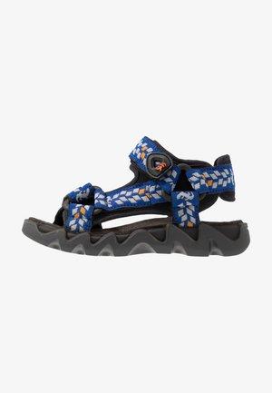 OLLY - Walking sandals - nero/bluette
