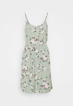 PCBEAUTY TIE DRESS - Day dress - green milieu