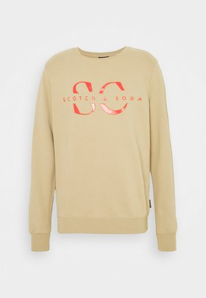CREW NECK WITH GRAPHIC - Mikina - mushroom brown