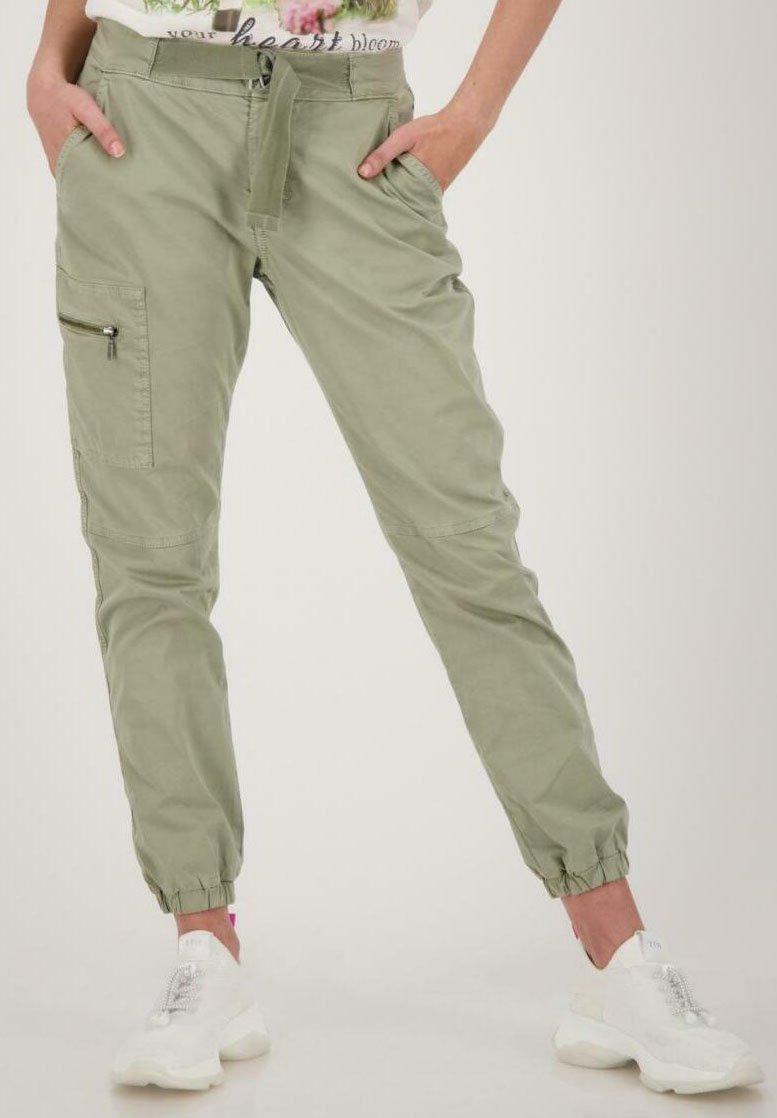Monari - Cargo trousers - dusty green