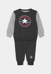 Converse - COLORBLOCK CREW SET - Mikina - black heather - 0