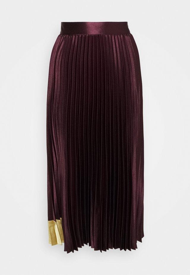 GLAYCIE - A-line skirt - dark red