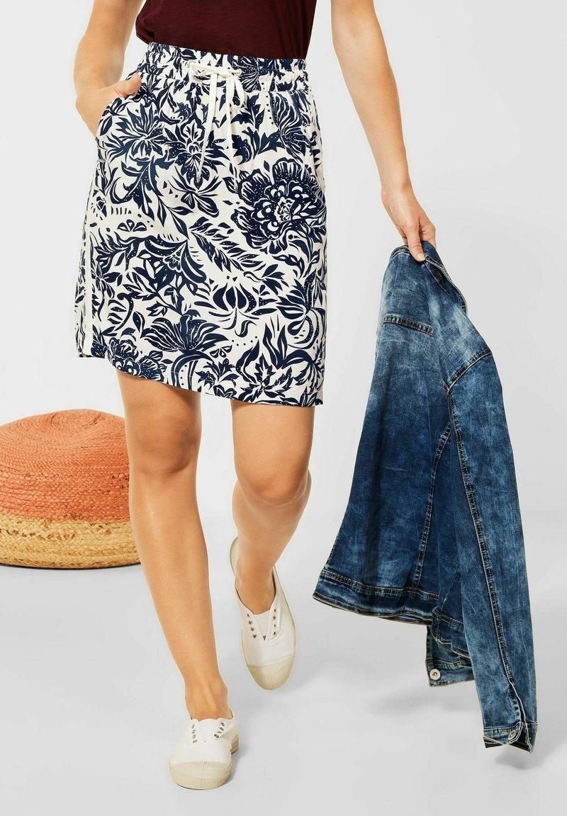 Cecil - A-line skirt - weiß
