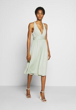 CROSS BACK DRAPY DRESS - Robe de soirée - mint