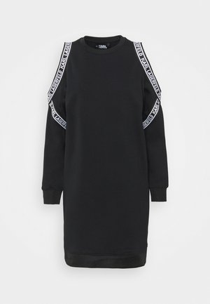 COLD SHOULDER DRESS - Day dress - black