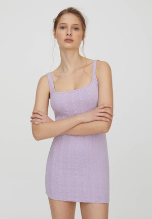 Strickkleid - purple