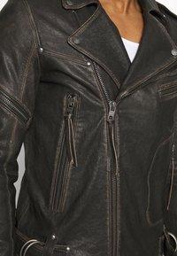 Tigha - NEVAN - Leather jacket - vintage black - 4