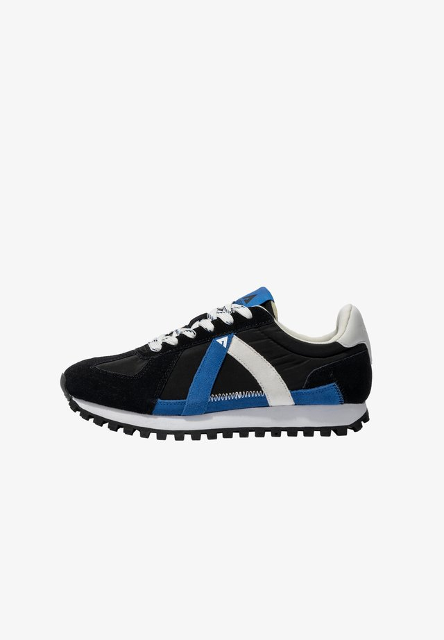 Sneakers laag - black blue white