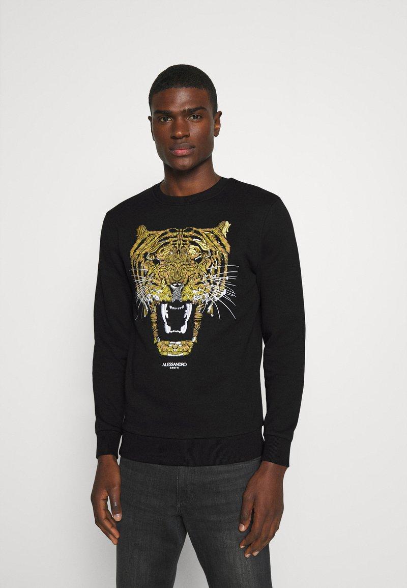 Alessandro Zavetti - GOLDEN GROWLER CREW - Sweatshirts - black