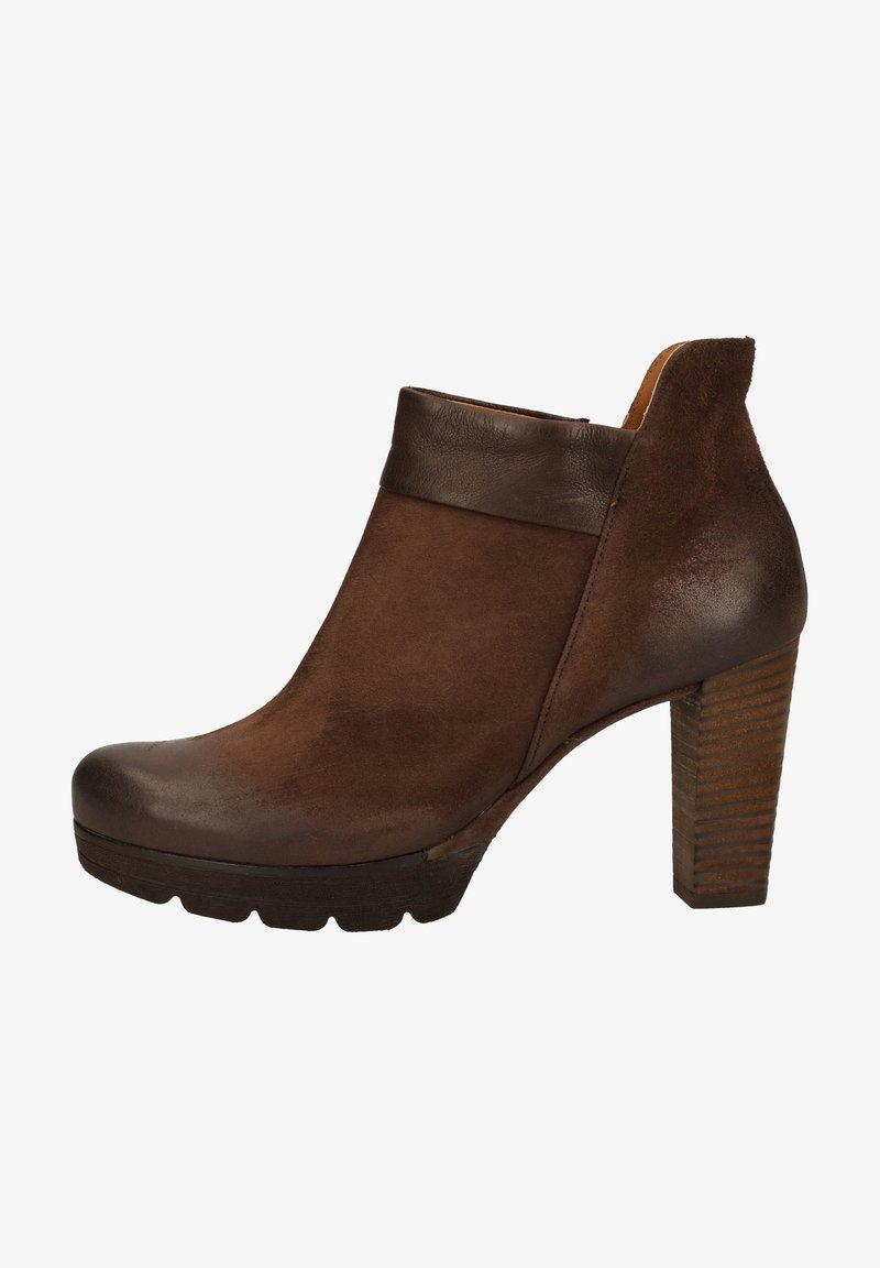 Paul Green - STIEFELETTE - High heeled ankle boots - dunkelbraun