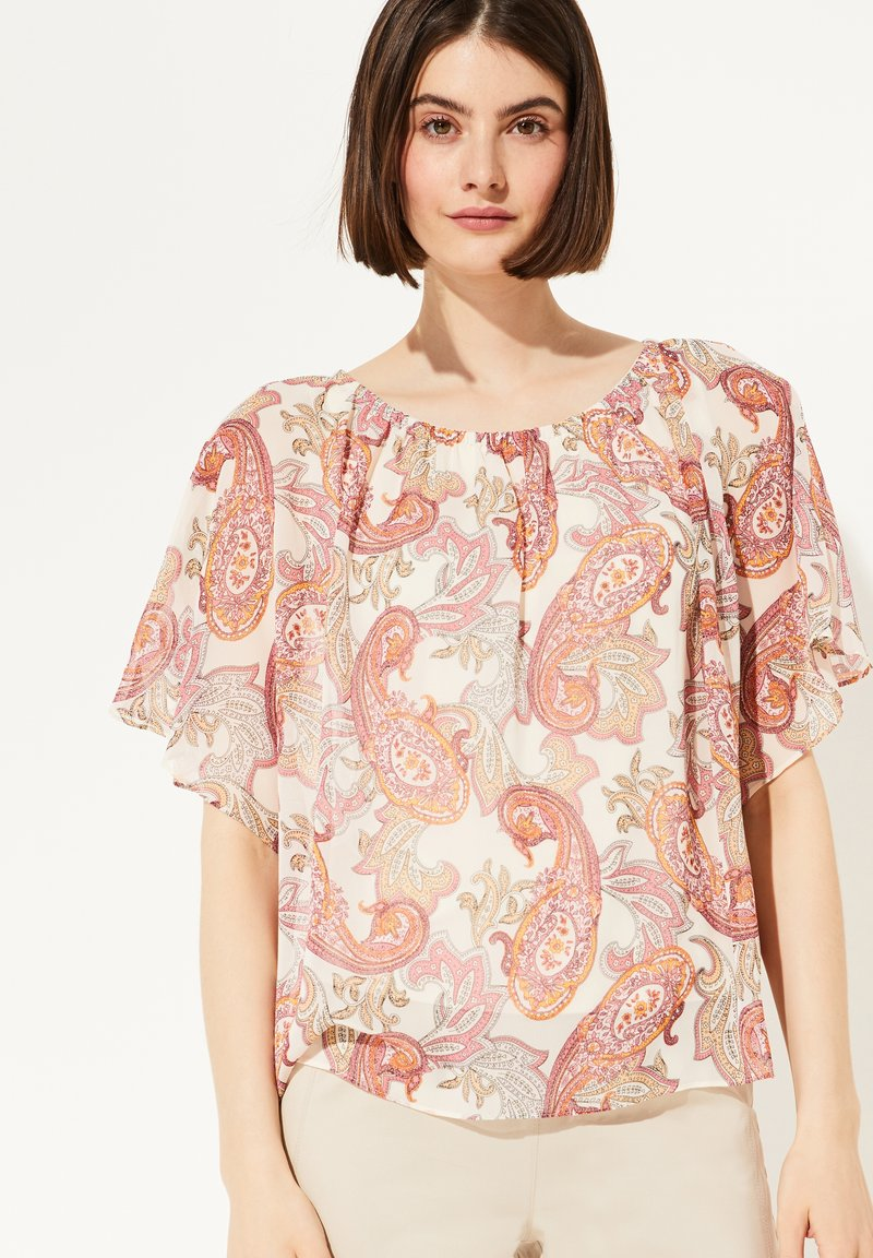 comma - MIT PAISLEY-MUSTER - Blouse - rose summer paisley
