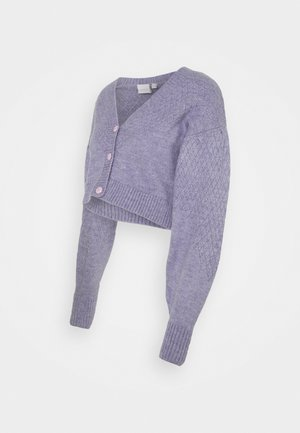 MLABRIAL CROPPED - Cardigan - dahlia purple