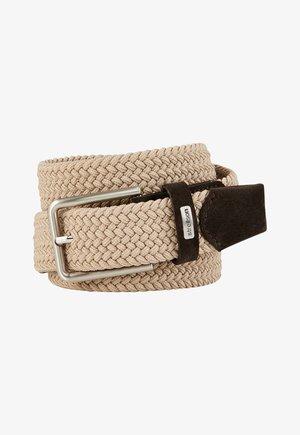 Braided belt - streifen dunkelrot 1