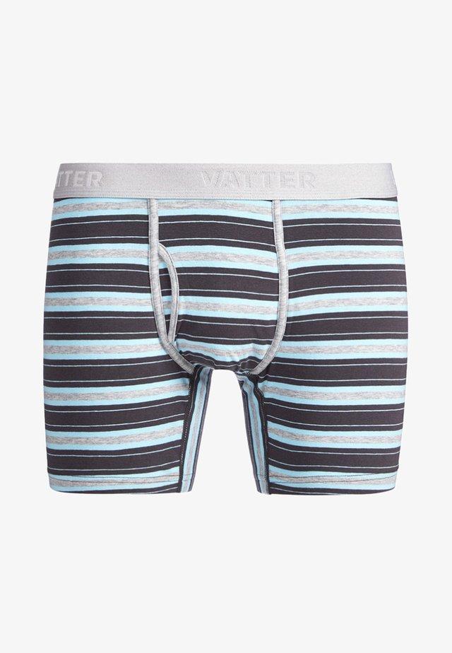 CLASSY CLAUS - Pants - grey/black/blue