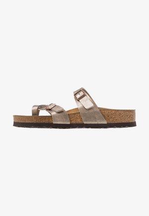 MAYARI - T-bar sandals - graceful taupe