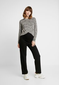 Cotton On - MATERNITY CROSS OVER FRONT LONG SLEEVE - Sweter - grey twist - 1