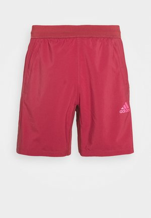 AEROREADY 3-STRIPES 8-INCH SHORTS - Korte sportsbukser - red