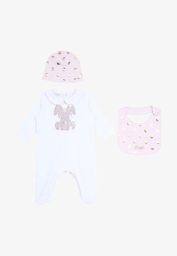 Sleep suit - white/pink
