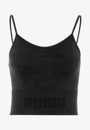 EVOKNIT SEAMLESS CROP - Sports shirt - black