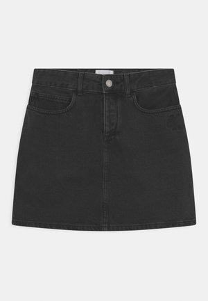 STRAIGHT - Mini skirts  - black denim