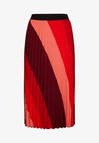 comma - MIT STREIFENMUSTER - A-line skirt - red diagonale stripes - 4