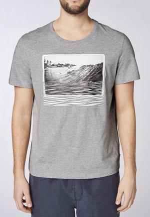 Print T-shirt - neutr. gray