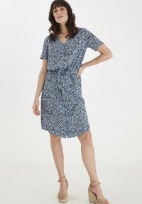 Fransa - Day dress - cashmere blue mix - 1