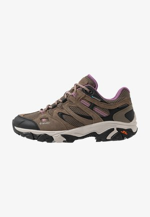 RAVUS VENT LOW WP WOMENS - Zapatillas de senderismo - smokey brown/taupe/very grape