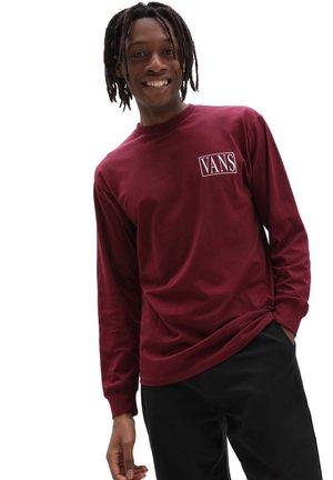 MN ROSE BOX LS - Long sleeved top - burgundy
