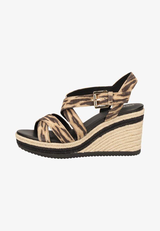 Korolliset sandaalit - black/biscuit
