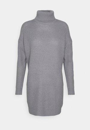 ROLL NECK DRESS - Strikket kjole - charcoal