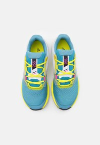 adidas Performance - TERREX TWO FLOW - Stabile løpesko - hazy blue/crystal white/acid yellow - 3