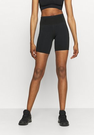 EPIC LUXE SHORT - Leggings - black/moke grey