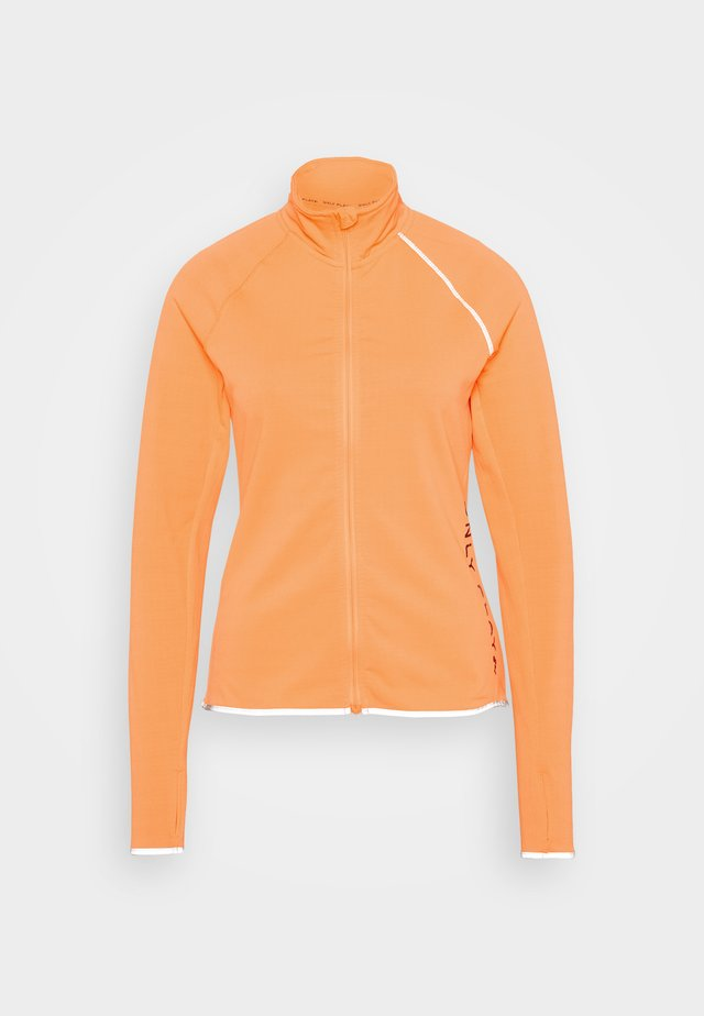 ONPPERFORMANCE RUN BRUSHED ZIP - Běžecká bunda - sunset orange/black