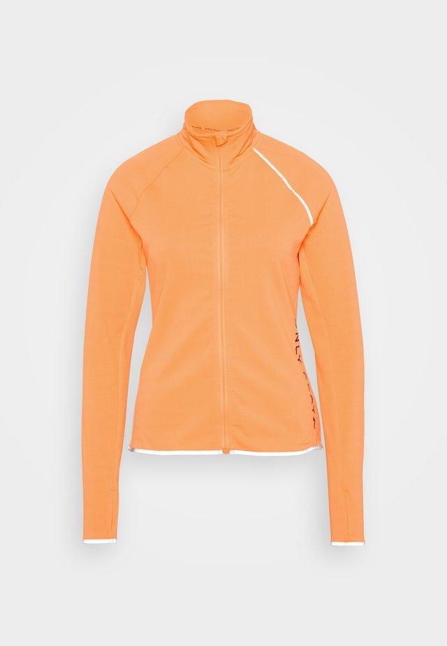 ONPPERFORMANCE RUN BRUSHED ZIP - Chaqueta de deporte - sunset orange/black