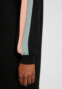 Missguided - OVERSIZED SWEATER DRESS BLOCK - Vestito estivo - black - 6
